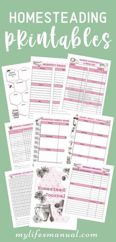 Interested in Homesteading and growing your own food? Grab the Homesteading Planner and Journal to help you get started. These Homesteading Printables will help you with planning, finance, and marketing. It will be your journal as well for taking notes and keeping important information. #planner #printables #homestead #homesteading Planner Tips, Planner Supplies, Goals Planner, Weekly Planner, Life Planner, Garden Planner, Meal Planner Printable, Daily Planner Printable, Planner Stickers