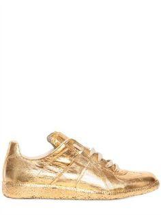 Maison Martin Margiela Gold Metallic Leather Sneakers