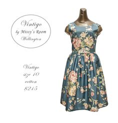 New dress, made by us in Wellington, from heavy weight vintage cotton. Only one dress was made from this fabric.  SOLD