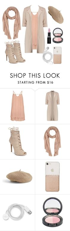 """""""A day in paris"""" by sunru ❤ liked on Polyvore featuring River Island, Chinese Laundry, Ermanno Scervino, Venus, Kate Spade, FOSSIL and Smashbox"""