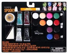 Deluxe Halloween Makeup Face Painting Kit for Zombie Vampire Witch Frankenstein & More #Vampire #Halloween #Costumes