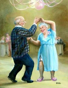 DPF DIY The old man to dance crafts diamond embroidery wall painting diamond masaic home decor diamond painting cross stitch Vieux Couples, Old Couples, Photo Humour, Growing Old Together, Old Folks, The Golden Years, Cartoon People, Old Age, Young At Heart