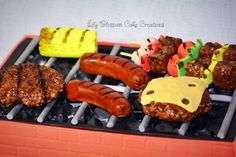 'Sizzlin BBQ' birthday cake which will make a wonderful present for any King or Queen of the Grill and make your celebration extra special and order one today!