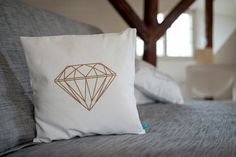 Diamant Kissen von SCHNEEMARIE auf Etsy