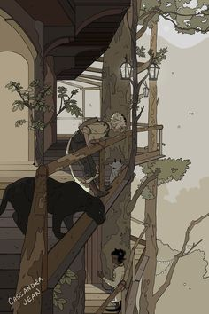 High Hide Village Mini Art Print by Cassandra Jean - Without Stand - x Art And Illustration, People Illustration, Character Art, Character Design, Cassandra Jean, Wow Art, Wild Nature, Art Background, Aesthetic Art