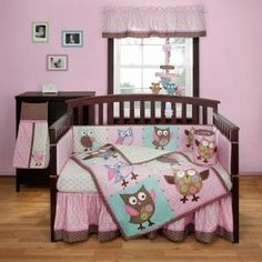 Calico Owls Bedding by Bananafish – Owl Baby Crib Bedding - coa0683
