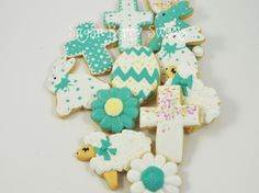 1 dozen Christian - Faith - He is Risen - Easter Decorated Iced Sugar Cookies - Lamb - Spring - Rabbit - Easter Bunny - Cross - Easter Egg