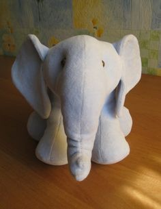 Sewing Stuffed Animals elephant sewing free pattern - In this tutorial, we teach you how to make an adorable double scoop ice cream cone bead bud out of pony beads and lanyard string. Sewing Toys, Baby Sewing, Sewing Crafts, Sewing Projects, Sewing Patterns Free, Free Sewing, Doll Patterns, Sewing Stuffed Animals, Stuffed Animal Patterns