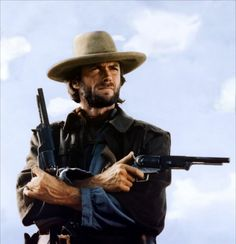 The Texan cold-eyed Clint Eastwood