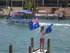Port Mandurah Resident's Association celebrate Australia Day in the annual boat flotilla