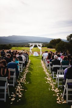 Ceremony setup on the golf course
