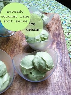 Avocado Coconut Ice Cream Simple dairy free vegan raw low sugar ice cream filled with healthy fats. 2 medium size Hass avocados (about 2 cups sliced) 1 cup coconut cream 1/2 cup lime juice (juice from 3 medium to large limes) lime zest from 3 limes 1/2 teaspoon liquid stevia