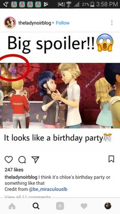 Miraculous Ladybug season 2 spoiler OMG THEY SAID MARINETTE WOULD HAVE A BIRTHDAY OMG THIS MUST BE IT also what is that thing in the red circle