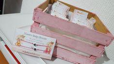 Pulseras para baby shower de gemelas Los mejores detalles en #SoyKiute   www.facebook.com/kiute.accesorios
