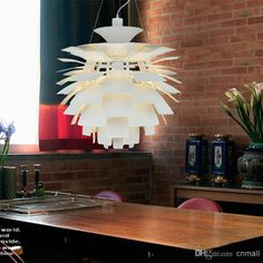 50CM Poul Henningsen PH Artichoke Ceiling Pendant Lamp Hanging Light European Modern Style Aluminum Body White/Wine Red/Gold/Silver/Black Online with $222.83/Piece on Cnmall's Store   DHgate.com