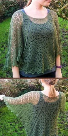 Knitting Pattern for Lavinia Lace Poncho Poncho Knitting Patterns, Knitted Poncho, Lace Knitting, Knit Patterns, Crochet Capas, Knit Or Crochet, Knitting Projects, Lace Wrap, Hexagon Shape