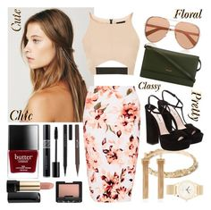 """""""Flower Flurry"""" by zooboolakiss ❤ liked on Polyvore featuring Free People, Blair Lauren Brown, Topshop, Miu Miu, Bally, Michael Kors, NARS Cosmetics, Butter London, Kevyn Aucoin and Stila"""