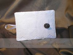 Tea Wallet in vintage laces and materials, exterior ~ by Gypsy Thread