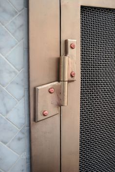 Winged hinges, bronze with copper rivets! by Ben Westbrook of BMW Ironworks Copper Rivets, Forged Steel, Door Handles, Custom Fireplace Screens, Etsy, Steel, Bronze, Tiny House, Forging