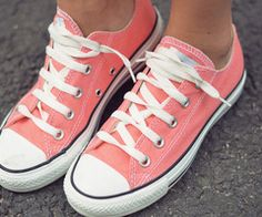 Coral Converse going converse and van shopping want to find these!! :0