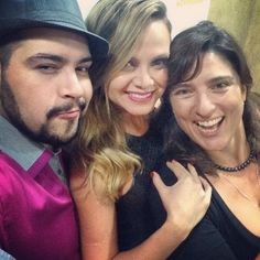 Momento camarim... @tiagoabravanel e @haddadgabi. https://instagram.com/p/1XGWRFPsoS/?taken-by=blogdaeliana