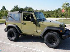 2013 Jeep Wrangler Sport Commando Green