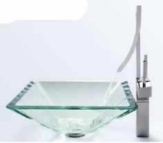 The Granite Gurus: Glass Vessel Sinks I love the faucet but would like more color and decorations in a round bowl instead I believe.