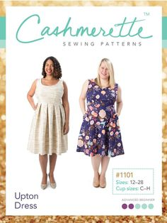 Cashmerette Patterns - 8patterns for ladies with up to an H cup!!!