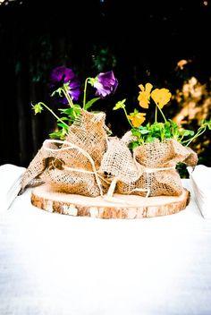 Flower favors for a garden bridal shower! #bridalshower #bride #wedding