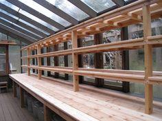 Greenhouse Shelving Ideas