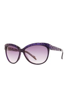 Thierry Mugler Purple Sunglasses