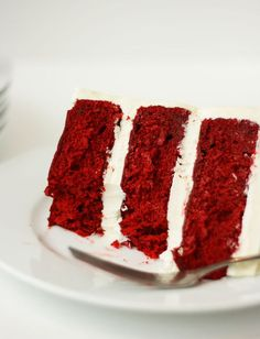 Red Velvet Cake with White Chocolate Cream Cheese Frosting -- can't wait to try this!