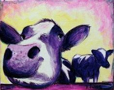 I love purple cows! From Thirty-times-three Purple Cow, All Things Purple, Shades Of Purple, Cows, Creative Inspiration, All The Colors, Moose Art, Times, Fun