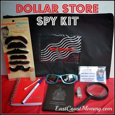 A SPY kit is a cute and unique idea for a birthday gift for a kid. This site has FIVE fabulous ideas that fit ANY budget!