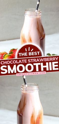 Say hello to the BEST Strawberry Smoothie! Swirled with chocolate, this rich and creamy summer drink recipe is on a whole new level. Make anyone swoon with this delicious, healthy smoothie today! Shake Recipes, Clean Recipes, Easy Recipes, Easy Healthy Smoothie Recipes, Healthy Drinks, Summer Drink Recipes, Cocktail Recipes, Chocolate Strawberry Smoothie, Flavored Water Recipes