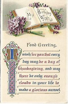 Antique Postcard Greetings My Birthday Wish by postcardsintheattic, $4.99 New Listing: #postcard #ephemera #antique #vintage #vintagepaper #etsy #antiquepaper #collectible #antiquepostcard #vintagepostcard