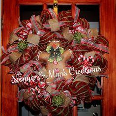 Gingerbread Holiday Wreath by NonnaAndMonsCreation on Etsy