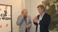 From the opening of the Peer Gynt Exhibition today. Håvard Vikhagen thinks Magne Furuholmens art represents the restlessness of Peer Gynt. http://www.smp.no/nyheter/article491768.ece