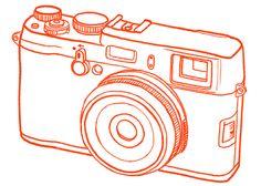 Leopard is a neutral. Polka dots, too. Camera Illustration, Photo Illustration, Fuji X100, Camera Drawing, Film Logo, Fuji Camera, Capture Photo, Let Your Hair Down, Blue Plates