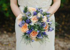 Bridal Bouquet. Maggie Bride Angela wore Gemma by Maggie Sottero at her navy blue garden wedding | Schryver Photography