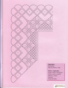 Labores de Bolillos 08 Bobbin Lace Patterns, Lacemaking, Parchment Craft, Crochet Trim, Hobbies And Crafts, Yarn Crafts, Tatting, Needlework, Stencils