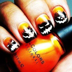 halloween nail design pictures | Pumpkin Holiday Nail Art Design - Cool Halloween Nail Art Design