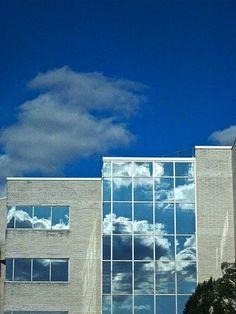 sky on glass