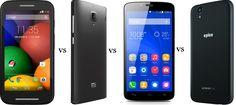 Moto E Vs Redmi 1s Vs Honor holly Vs Android One