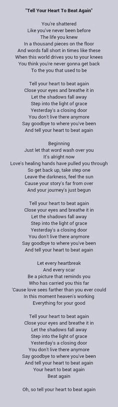 Tell your heart to beat again danny gokey: