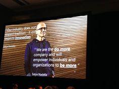 #WPC14 - #SatyaNadella, president at #Microsoft, keynote - #raona #technology #ms #tecnologia