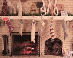 homemade stockings Xmas Stockings, Homemade, Holidays, Architecture, Holiday Decor, Arquitetura, Holidays Events, Home Made, Holiday