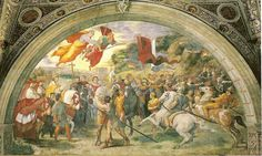 Encuentro de Atila y León Magno. (Fresco )