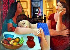 Mulheres e frutas, 1962 gravuras e telas do pintor brasileiro di cavalcanti…