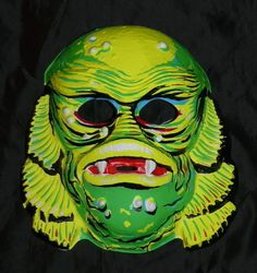 Vintage Halloween Creature From the Black Lagoon mask